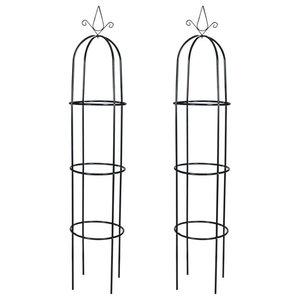 vidaXL Garden Arch Towers, Set of 2