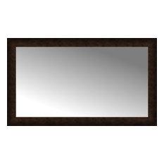 "44""x26"" Custom Framed Mirror, Dark Bronze"