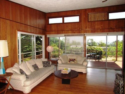 Mid Century Modern Replace Wood Paneling Redo Floors Ideas