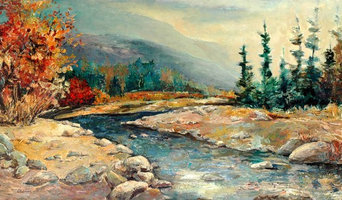 Landscapes in oil and acrylics.