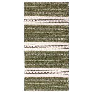 Asta Olive Green Vinyl Floor Cloth, 70x300 cm