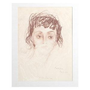 "Dimitrie Berea ""Portrait Of Louise Rainer, 22"" Charcoal Drawing"