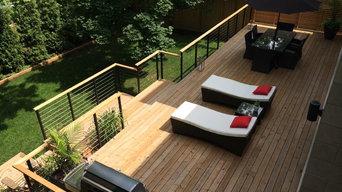 Modern Backyard Railing