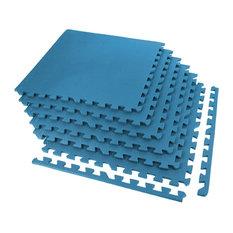 "24""x24"" Exercise Foam Tiles, Set of 6, Blue"
