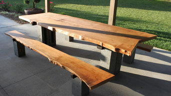 Live Edge Sycamore Community Table