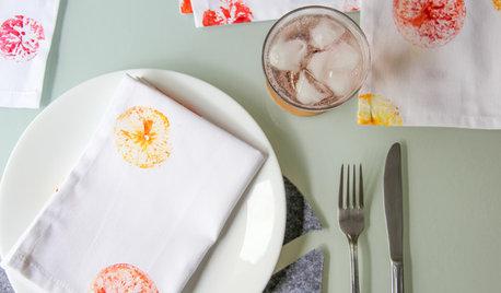 DIY : Des tampons d'agrumes pour relooker vos serviettes de table