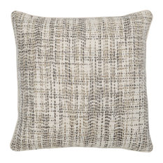 "Baxter Woven 22"" Throw Pillow, Natural by Kosas Home"
