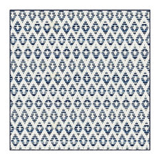 Couristan Sullivan's Island Accent Rug, Indoor/Outdoor, Marine, Square 12'x12'
