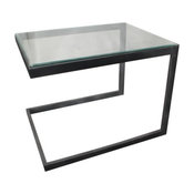CENTRE TABLE WITH GLASS TOP