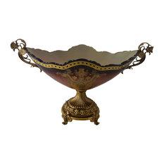 Oval Glass Bowl Centerpiece Table Decor