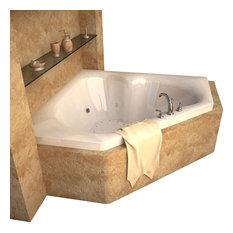 "Atlantis Tubs 6060CDR Cascade 60x60x23"" Whirlpool Jetted Bathtub"