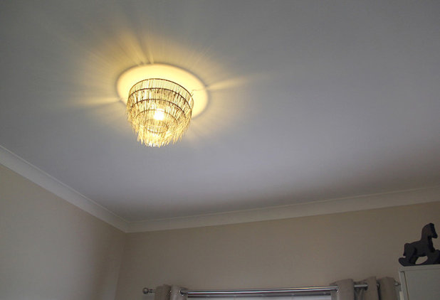 Diy project cable tie ceiling light shade aloadofball Gallery