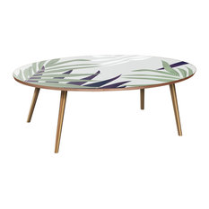 Ondine Flare Coffee Table - Purple Palm