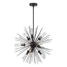 Hilo 9-Light Chandelier, Oil Rubbed Bronze With Clear Glass
