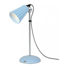 Hector Pleated Table Lamp, Pastel Blue, Small