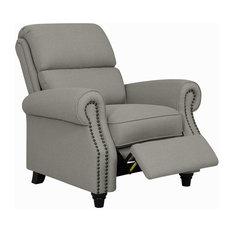 Prolounger Push Back Recliner Chair, Dove Gray Linen