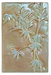 """Iridescent Glass Bamboo Mosaic Piece """"SANDSTONE"""" color - Tile"""