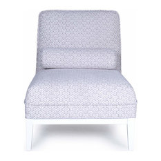 White And Silver Modern Lounge Chair