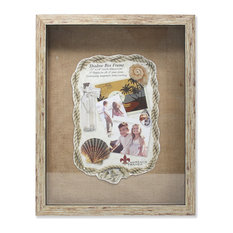 Lawrence Frames 530711 Weathered Front Hinged Shadow Box Frame With Burlap