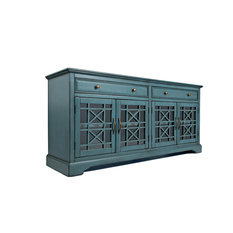 1st Avenue - Chester Sideboard, Antique Blue, Large - Accent Chests and Cabinets