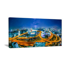"""Bangkok City"" Cityscape Photography Canvas Art Print, 32""x16"""