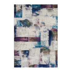 "Couristan Easton Watercoloring Area Rug, Bone-Multi, 9'2"" X 12'5"""