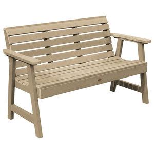 Astonishing Outdoor 4 Ft Classic Slat Back Garden Bench Patio Arm Chair Creativecarmelina Interior Chair Design Creativecarmelinacom