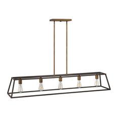 Hinkley Fulton Chandelier 5-Light Open Frame Linear, Bronze