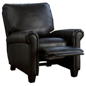 Cool Abbyson Living Tessa Pushback Bonded Leather Recliner Brown Onthecornerstone Fun Painted Chair Ideas Images Onthecornerstoneorg