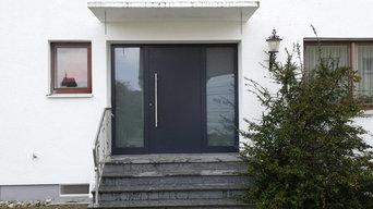 Aluminium-Haustüre von Kompotherm.