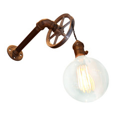 West Ninth Vintage   1 Light Pulley Wall Light   Wall Sconces