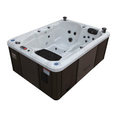 Quebec Plug & Play 29 Jet 3-4 Person Hot Tub, LED Lighting and Pop-up Speakers