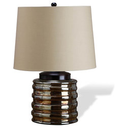 Transitional Table Lamps Interlude Ravella Glass Lamp