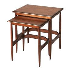 Bryant Mid-century Modern Nesting Tables Brown by Priya Home Furniture