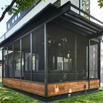 custom steel porch
