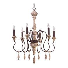 Maxim Lighting International Olde World 6 Light Chandelier In Senora Wood Chandeliers