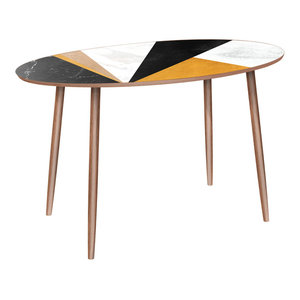 Ondine Dowel Dining Table, Glamorous Geometry By NyeKoncept Good Stores For