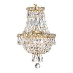 "French Empire Crystal Chandelier Chandelier 3-Light, 15""x11"""