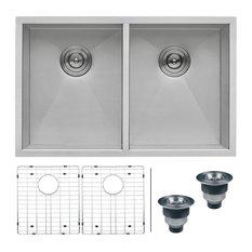"""Ruvati - Ruvati RVH7350 Undermount 16 Gauge 30"""" Kitchen Sink Double Bowl - Kitchen Sinks"""