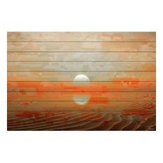 "Parvez Taj Art Print On White Pine Wood, 40""x60"""