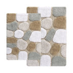 Pebbles Bath Rug 2-Piece Set, Spa