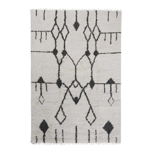 Aragon Rug, Off White and Black, 170x240 cm
