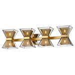 "Troy Lighting - Expression 27"" LED Bath Wall Sconce, Gold Leaf, Clear Glass - Base Finish: Gold Leaf"