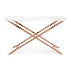 Imax Acrylic And Stainless Steel Console Table With Copper Finish 31538
