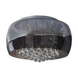 Leona 9-Light Ceiling Light, Smoky Grey, Chrome