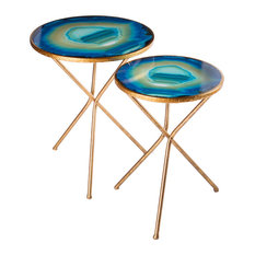 Statements By J   Nesting Agate Table, Set Of 2   Side Tables And End