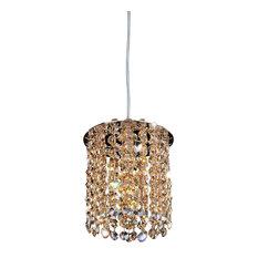 Allegri Crystal - Milieu Mini Round Pendant 1 Light, Swarovski Elements  Clear - Pendant Lighting