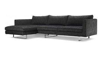 Owens Modern Fabric Sectional Sofa
