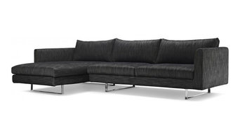 Owens Modern Fabric Sectional Sofa