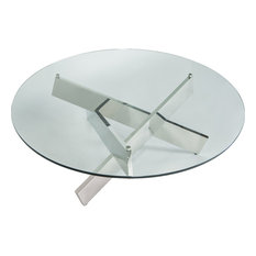 Bella Round Coffee Table Polished Stainless Steel